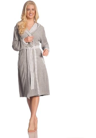 Vossen Damenbademantel »Juno«, (1 St.), gestreifter Saum kaufen