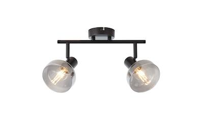 Brilliant Leuchten Reflekt Spotrohr 2flg schwarzmatt/rauchglas kaufen