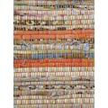 carpetfine Teppich »Kelim Chindi«, rechteckig, 6 mm Höhe, Flachgewebe Wendeteppich mit Fransen, Wohnzimmer