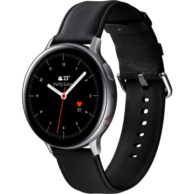 Samsung Galaxy Watch Active2 Edelstahl, 44 mm, LTE & Bluetooth (SM-R825) Smartwatch (3,4 cm / 1,4 Zoll)