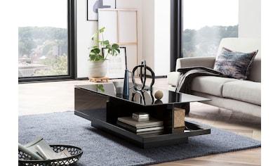 SalesFever Couchtisch, mit Tischplatte aus gehärtetem Kristallglas kaufen