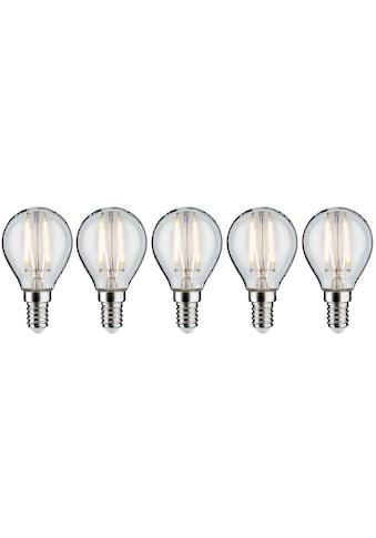 Paulmann »5er Pack 4,8W Tropfen E14 klar dimmbar 2700K« LED - Filament, E14, Warmweiß kaufen