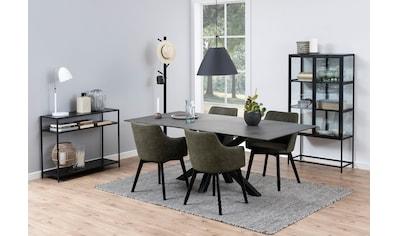 andas Esstisch »Hanna«, mit einer schwarzen Keramik-Optik Tischplatte, einem... kaufen
