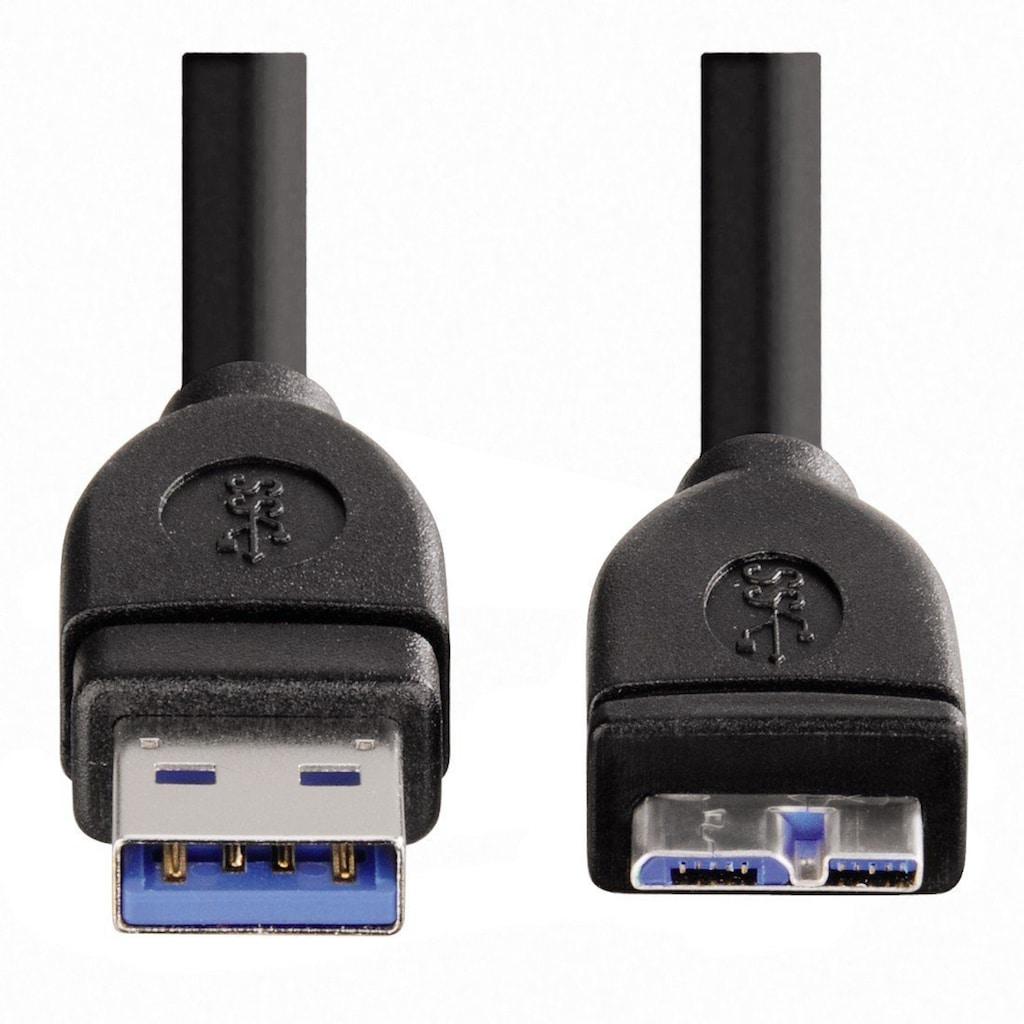 Hama USB-Kabel, USB 3.0 Micro-B-USB Typ A, 180 cm, geschirmt, 1,80 m