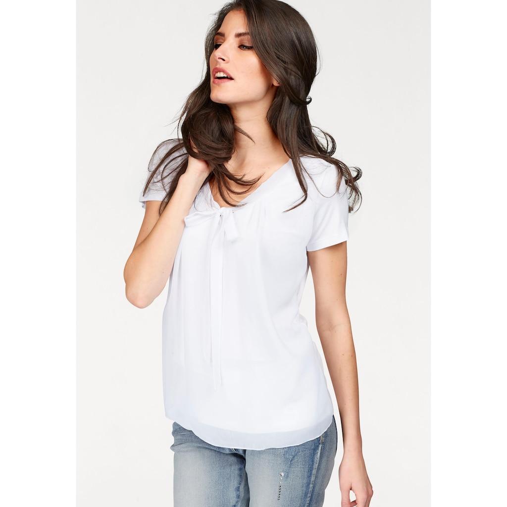 Aniston SELECTED Shirtbluse, mit gedoppeltem Vorderteil
