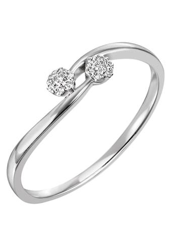 Firetti Diamantring »ca. 1,3 mm breit, glänzend und rhodiniert«, mit Brillanten kaufen