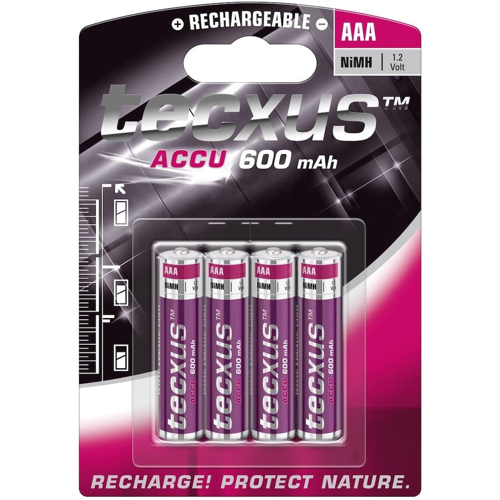 tecxus Batterie »Akku, 4-er Pack«, (4 St.), Tecxus Micro AAA (1,2V, 600mAh)