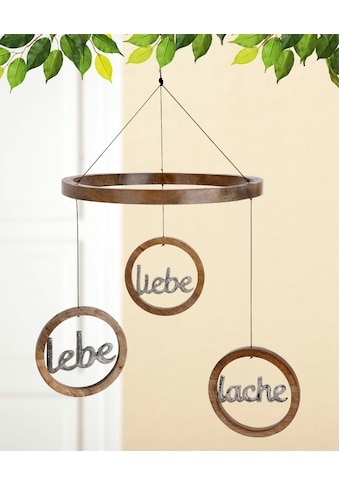 "GILDE Dekoobjekt »Mobile ""Lebe, Liebe, Lache""« (1 Stück) kaufen"