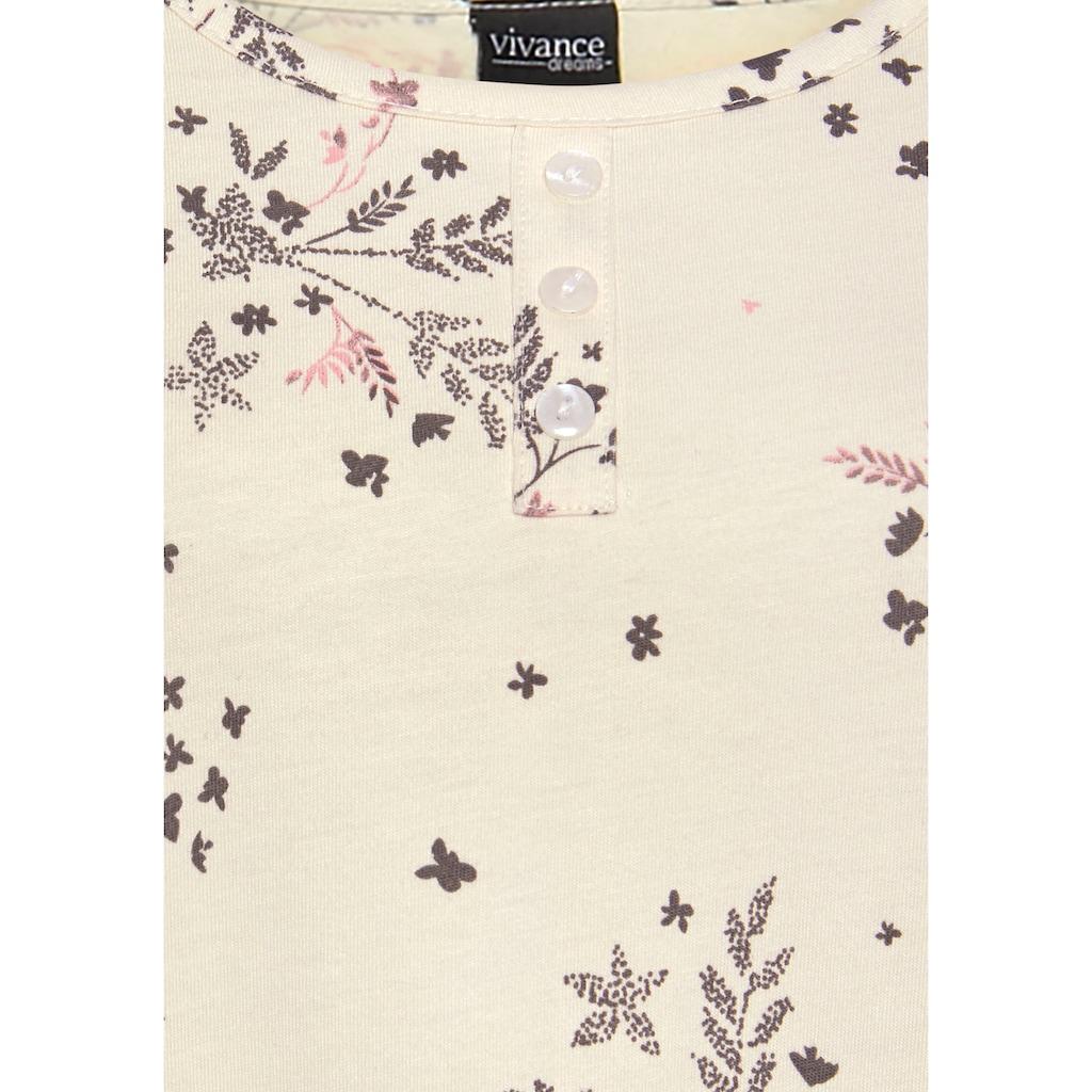 Vivance Dreams Nachthemd, (2er-Pack), mit feinen Blumenzweigen