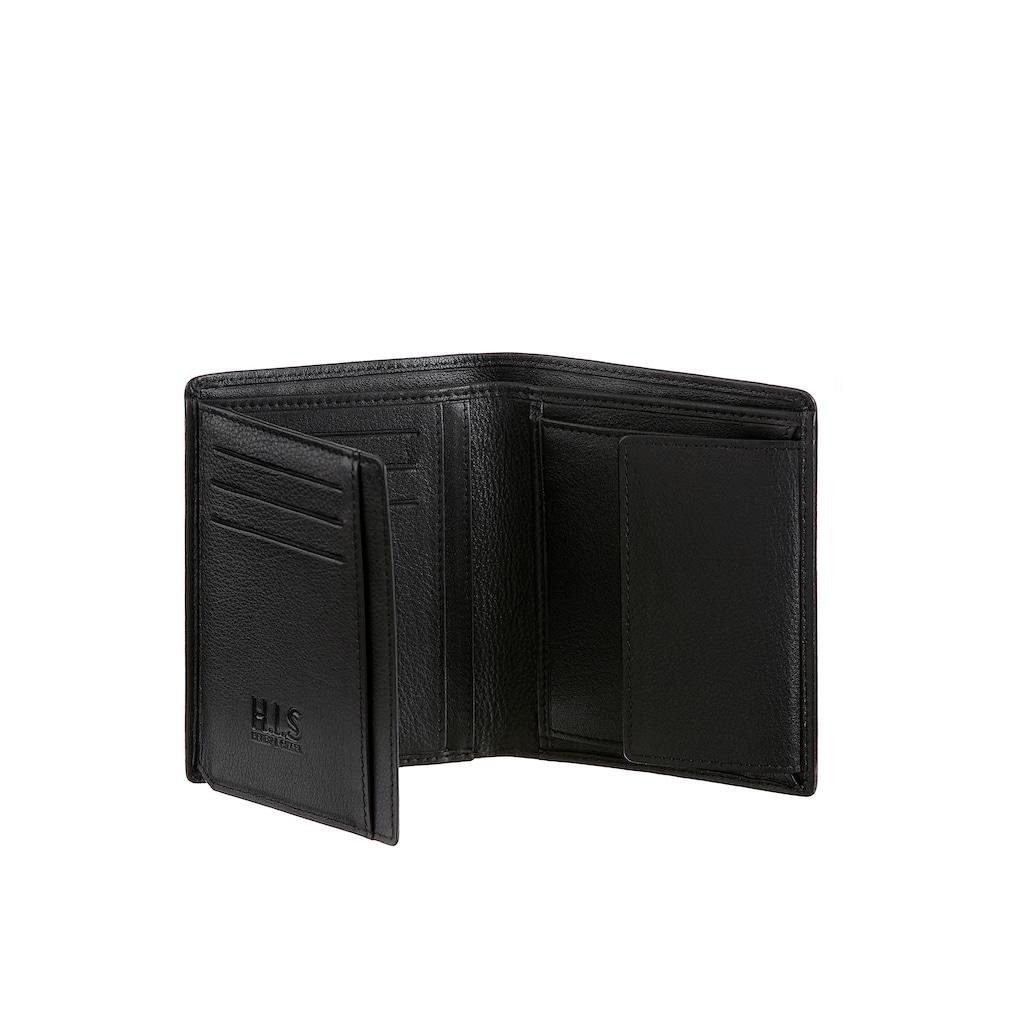 H.I.S Geldbörse, aus weichem Leder, in schlichter Optik