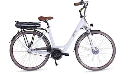 LLobe E - Bike »Metropolitan JOY modernwhite 13 Ah«, 3 Gang Nabenschaltung, Frontmotor 468 W (mit Akku - Ladegerät) kaufen