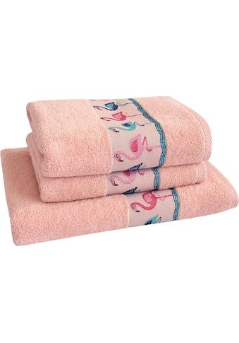 Dyckhoff Handtuch Set »Flamingos«, mit Flamingo Bordüre kaufen