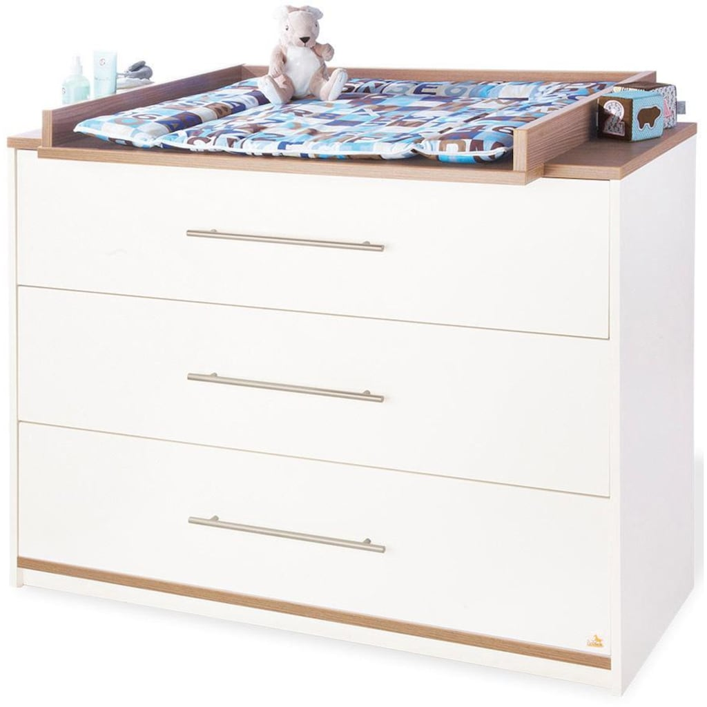 Pinolino® Babyzimmer-Komplettset »Tuula«, (Set, 3 St.), breit; mit Kinderbett, Schrank und Wickelkommode; Made in Europe