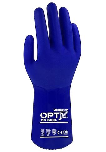 Wonder Grip Baumwollhandschuhe »Dreifache PVC Beschichtung (L/09)«, Arbeitshandschuh OP 600L Opty kaufen