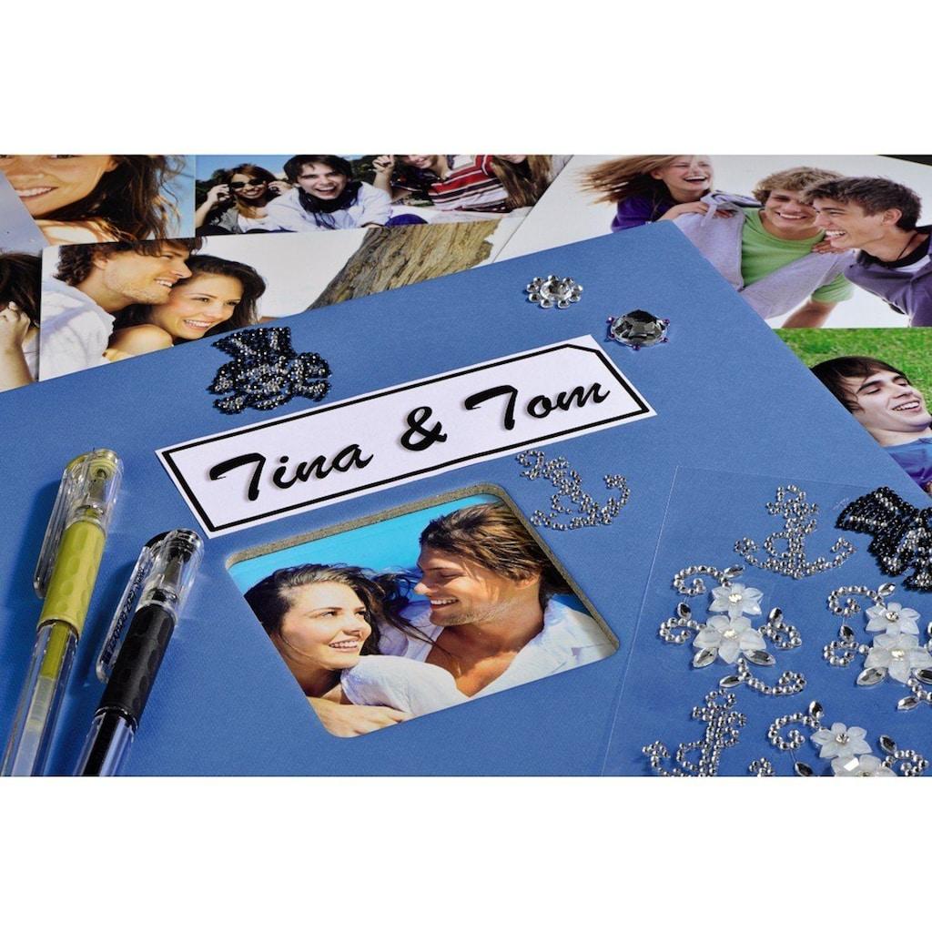 """Hama Fotoalbum »Fotoalbum zum einkleben Azur«, 24 x 17 cm, 50 Seiten, Photoalbum """" Fine Art"""