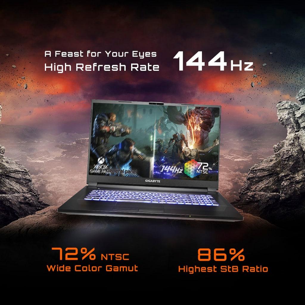 """Gigabyte Notebook »X1-CDE1130SH«, (43,9 cm/17,3 """" AMD Ryzen 9 RTX,™ 3070\r\n 512 GB SSD), Kostenloses Upgrade auf Windows 11, sobald verfügbar"""