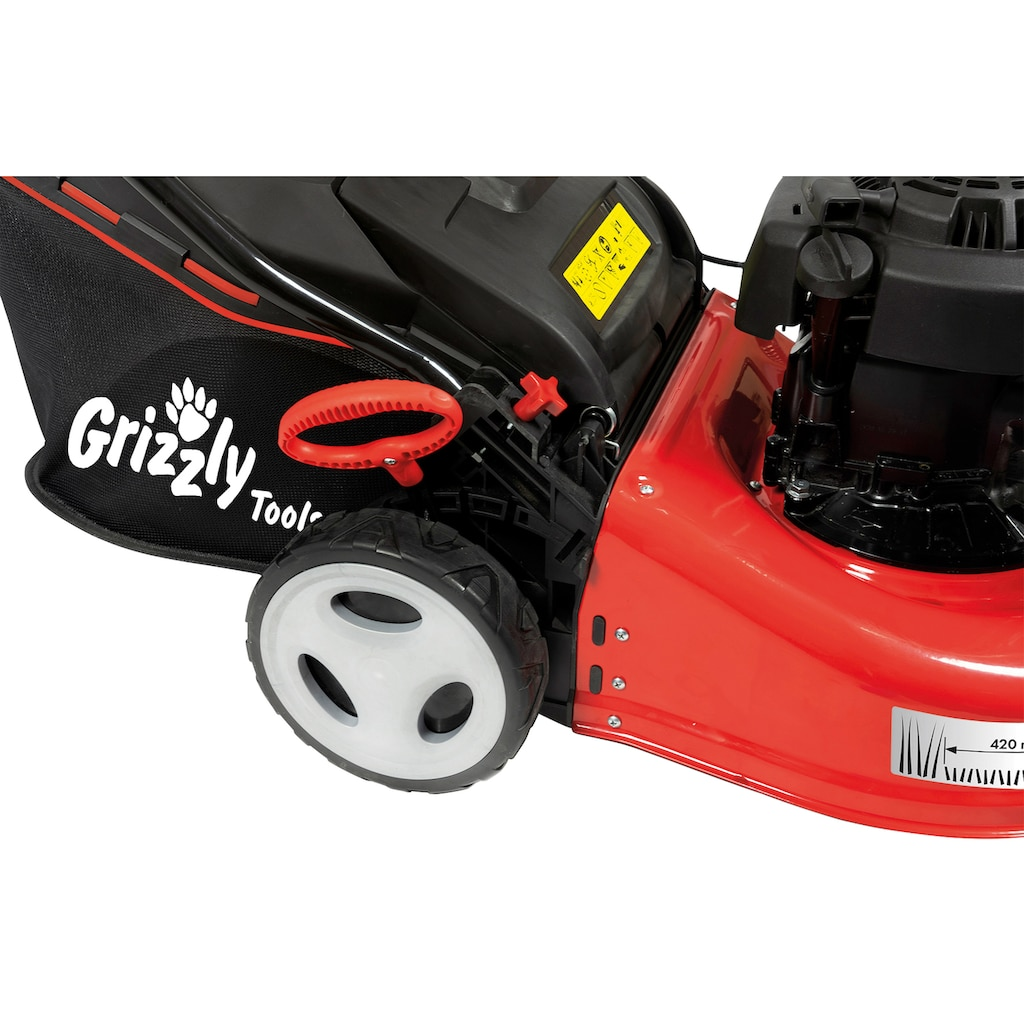 Grizzly Tools Benzinrasenmäher »BRM 42-125/2 BS«, 40 l Fangsack