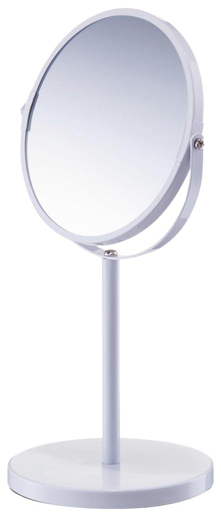 Zeller Spiegel / Kosmetikspiegel / Standspiegel »3-fache Vergrößerung« Durchmesser 15 cm | Bad > Bad-Accessoires > Kosmetikspiegel | Grau | Zeller Present