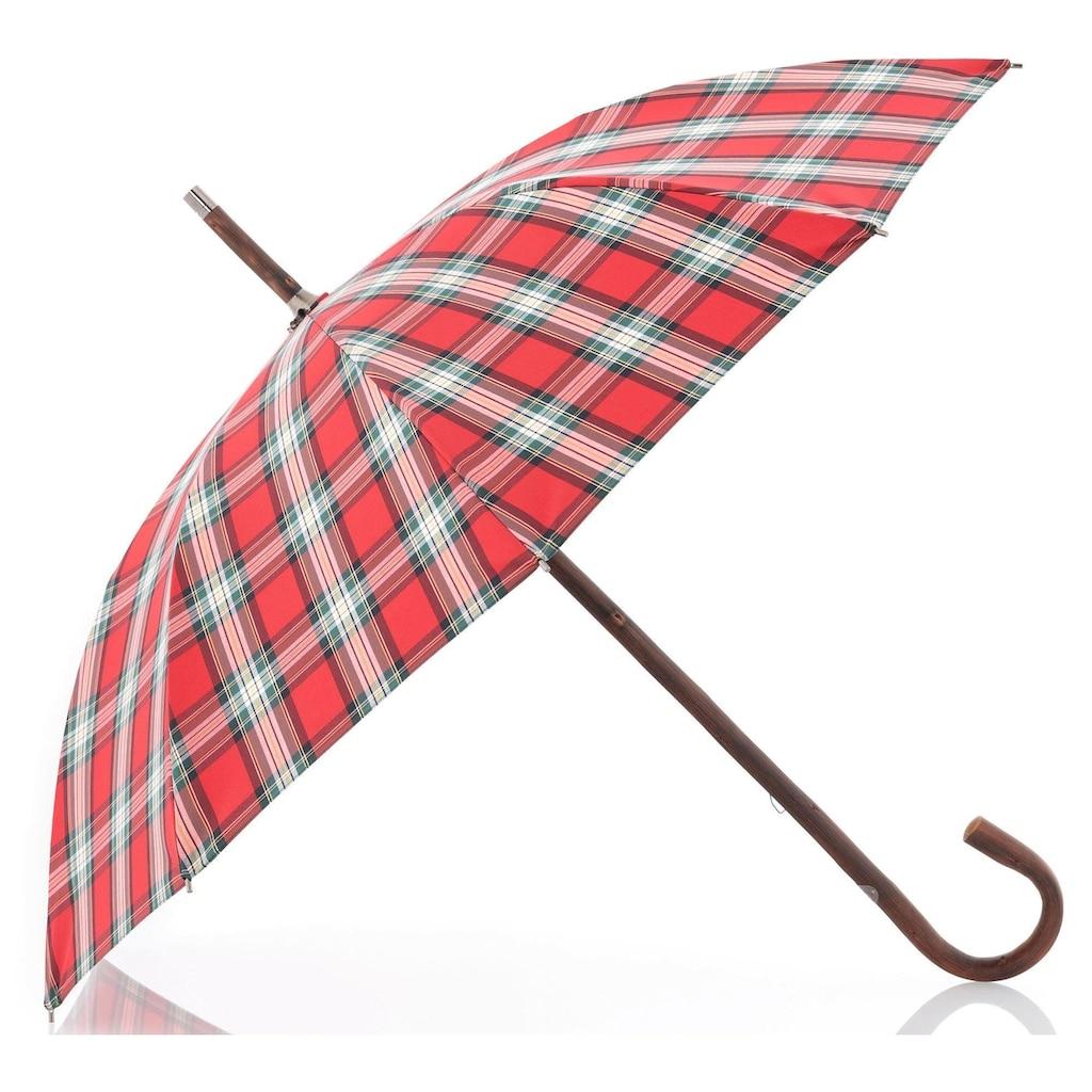 doppler MANUFAKTUR Stockregenschirm »Zürs, kastanie karo«, handgemachter Manufaktur-Stockschirm