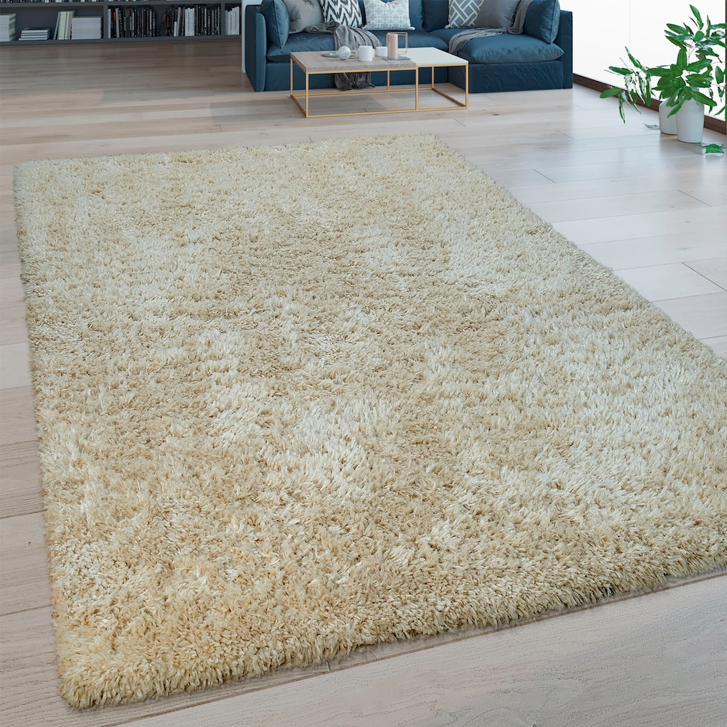 Paco Home Hochflor-Teppich »Bamba 410«, rechteckig, 45 mm Höhe, waschbar