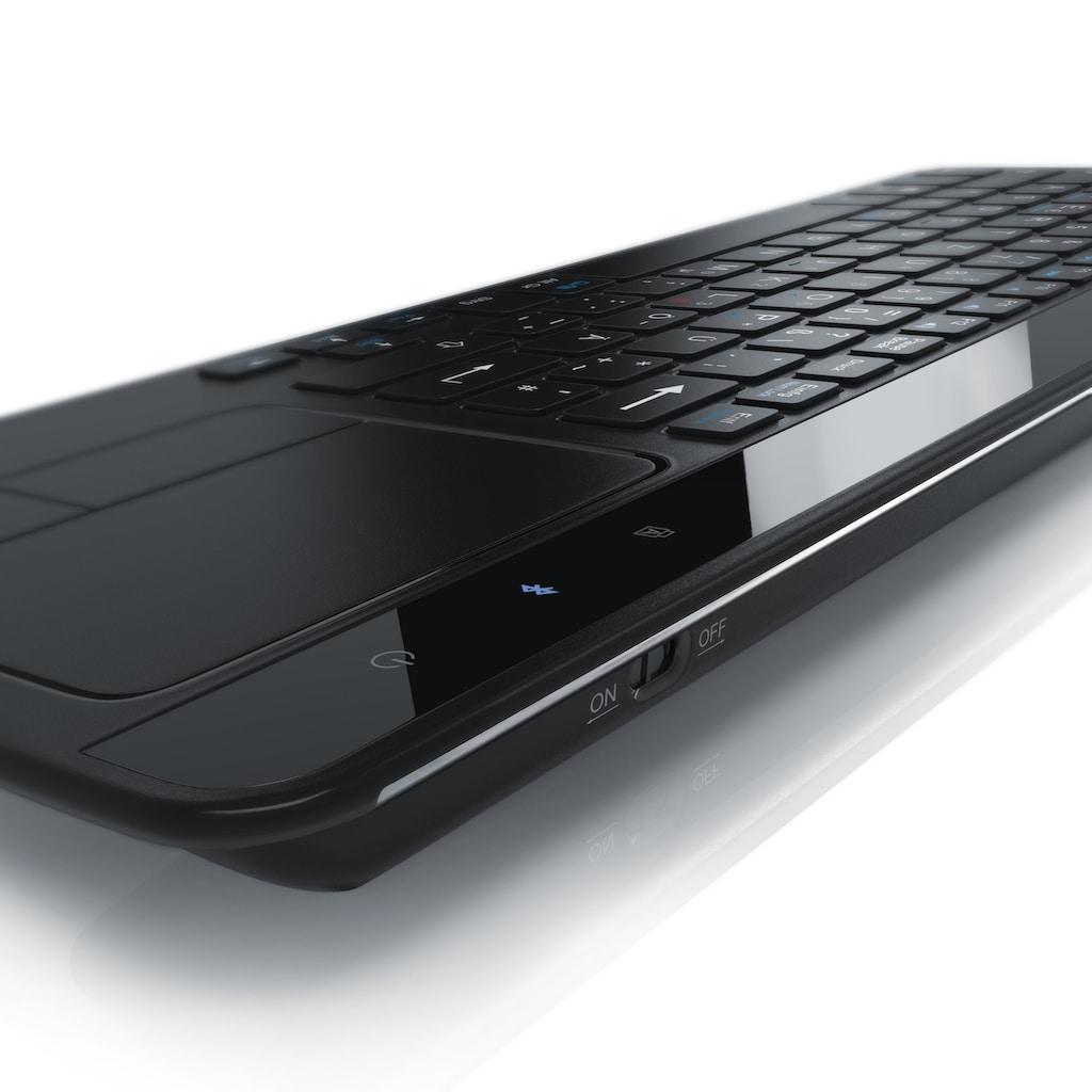 Aplic Slim Bluetooth Tastatur mit Touchpad im edlen Design