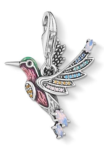 THOMAS SABO Charm-Einhänger »Bunter Kolibri silber, 1826-845-7«, mit Emaille, Glassteinen und Zirkonia kaufen