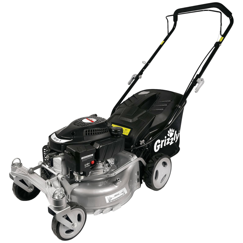 Grizzly Tools Benzinrasenmäher »BRM 42-127 OHV Q-360°«, 42 cm Schnittbreite