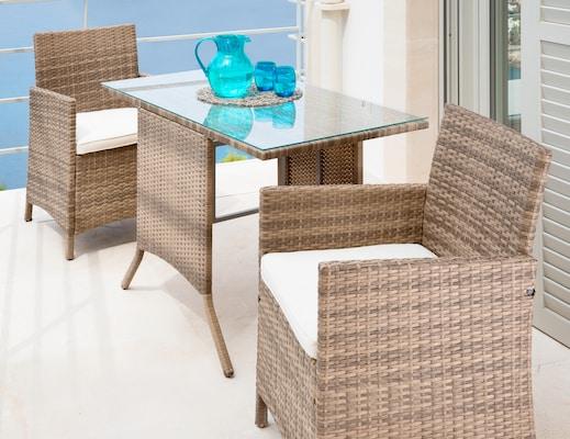 Gartenmöbel-Set aus Polyrattan