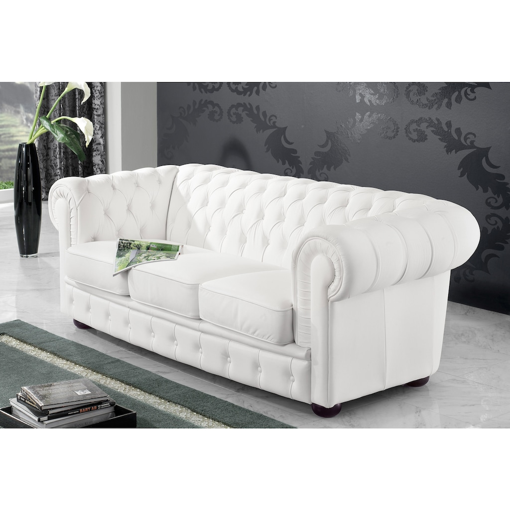 Max Winzer® Chesterfield-Sofa »Windsor«, mit edler Knopfheftung, 2-Sitzer oder 3-Sitzer