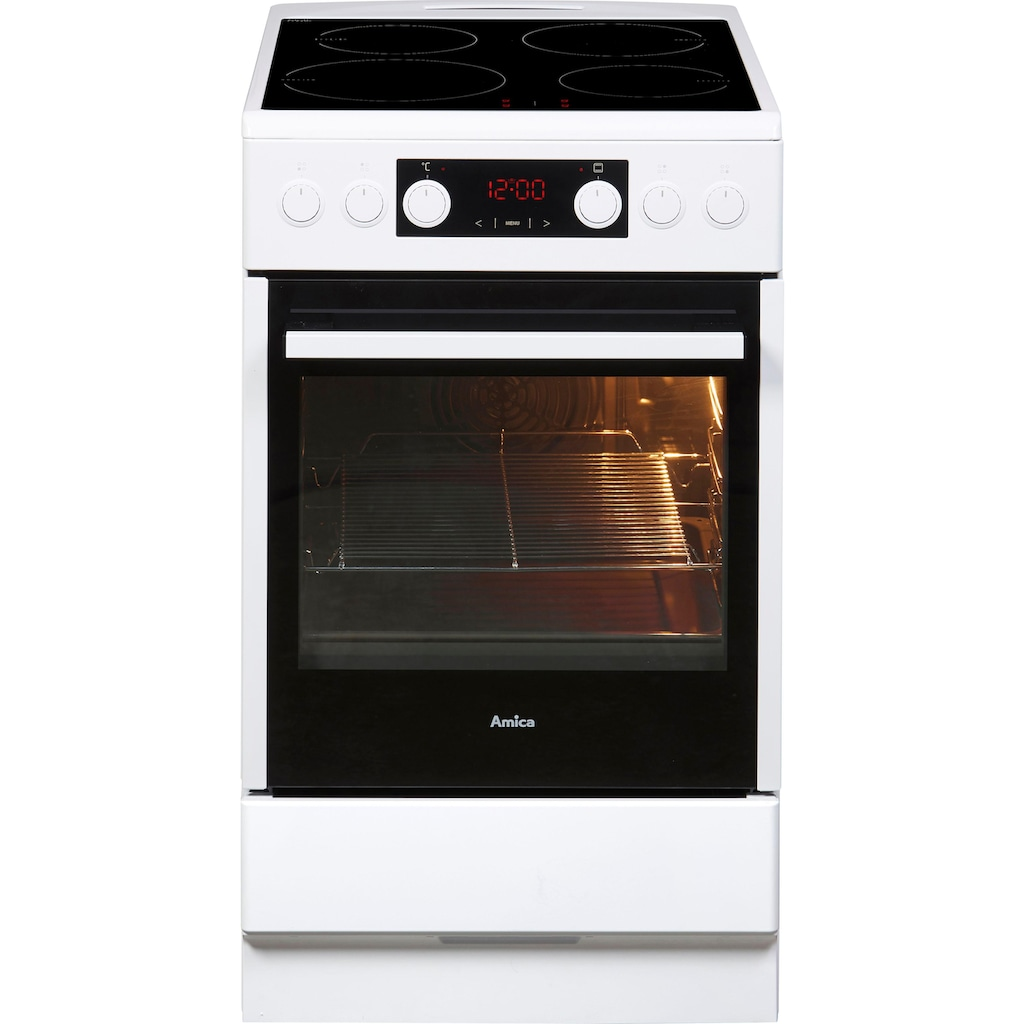Amica Induktions-Standherd »SHI 905 100 W«, SHI 905 100 W, Steam Clean, RapidWarmUp-Funktion