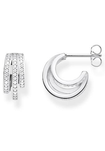 THOMAS SABO Paar Creolen »Ringe silber, CR652-051-14«, mit Zirkonia kaufen