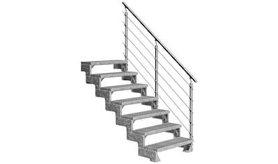 DOLLE Außentreppe »Gardentop«, für Geschosshöhen bis 154 cm, Gitterroststufen 80 cm kaufen