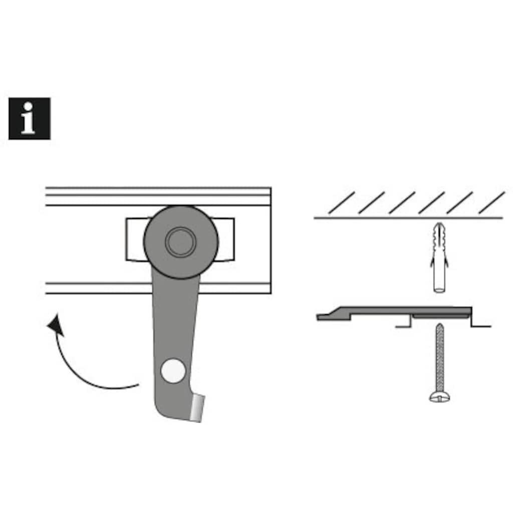 GARDINIA Gardinenstangenhalter »Deckenträger«, (2 St.), Serie Aluminiumschiene Ø 13 mm