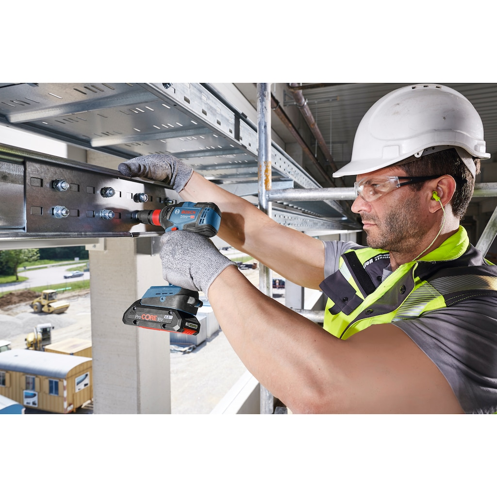 Bosch Professional Powertools Akku-Drehschlagschrauber »GDX 18V-200 Professional«, mit Koffer, 2x18V/4,0 Ah Akku und Ladegerät