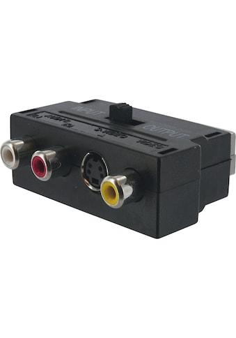 SCHWAIGER Scart Adapter, Audio Video Adapter, Cinch zu Scart »AV Konverter mit... kaufen