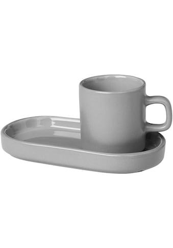 BLOMUS Espressotasse »PILAR«, (Set, 4 tlg.), 2 Tassen, 2 Untertassen kaufen