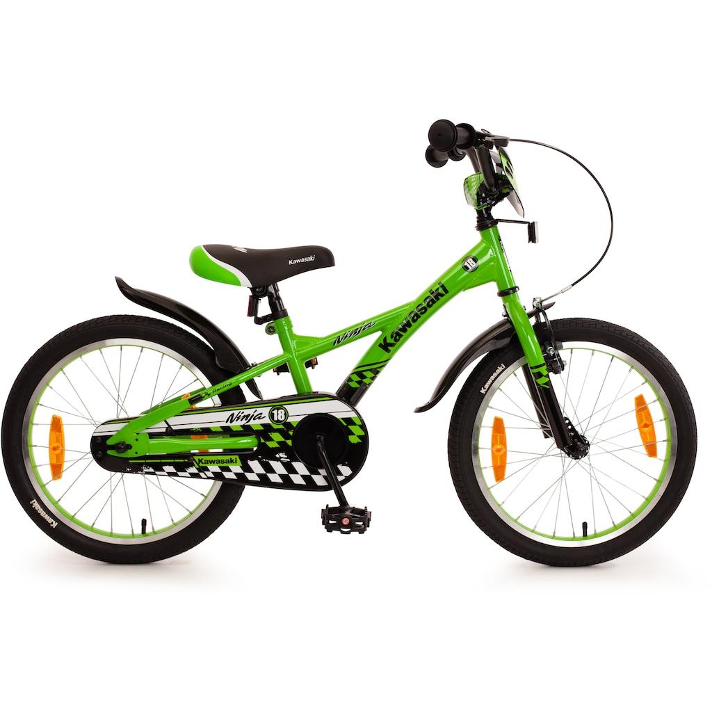 "Bachtenkirch Mountainbike »18"" Kinderfahrrad ""KAWASAKI - Ninja"", grün/schwarz«"