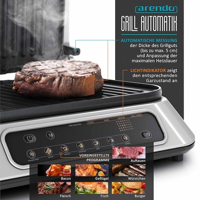 Arendo Kontaktgrill mit Digitalsteuerung »Tischgrill / Sandwichmaker 1900 W«