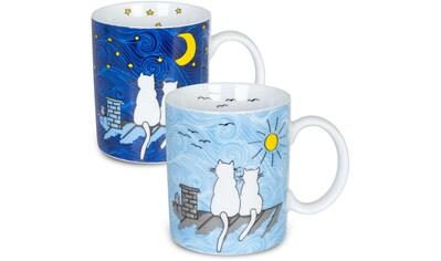 Könitz Becher »Katze bei Tag & Nacht«, (Set, 2 tlg.), 2-teilig kaufen