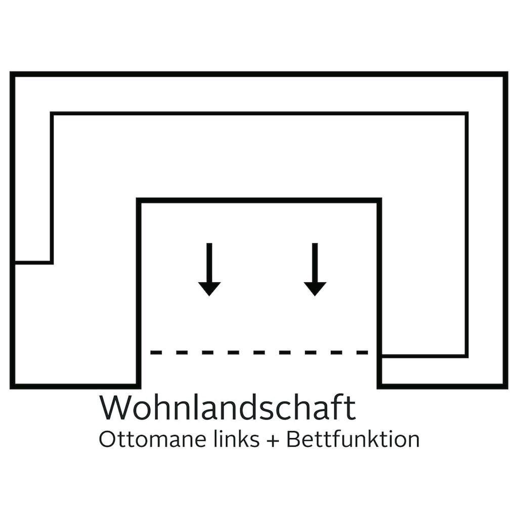 COLLECTION AB Wohnlandschaft, mit Bettfunktion, wahlweise mit Federkern