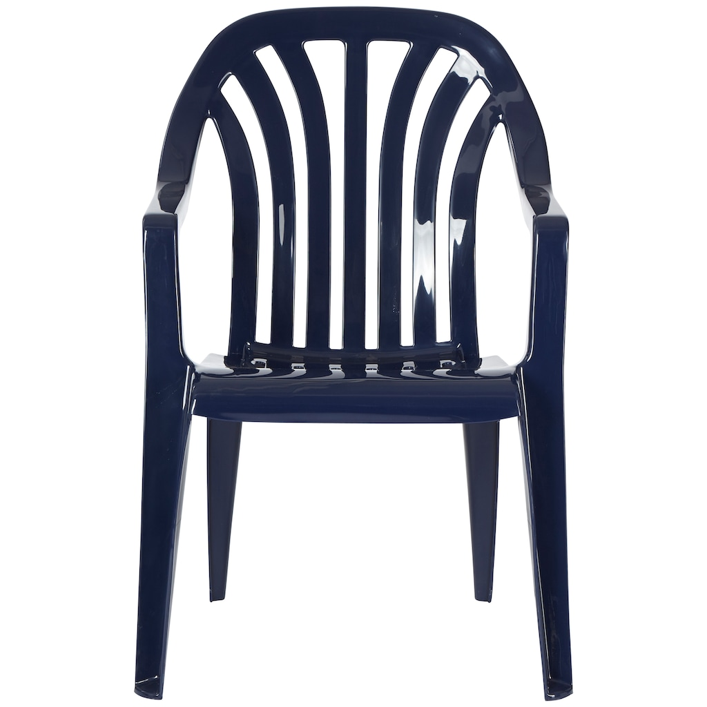 Best Gartenstuhl »Laredo«, 4er Set, Kunststoff, stapelbar, blau