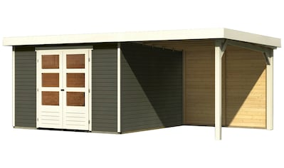 Karibu Gartenhaus »Arnis 6«, mit Anbaudach kaufen