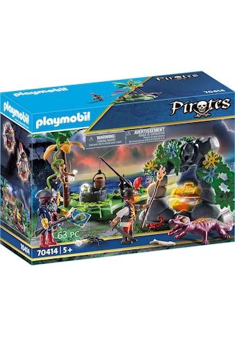 """Playmobil® Konstruktions - Spielset """"Piraten - Schatzversteck (70414), Pirates"""", Kunststoff kaufen"""