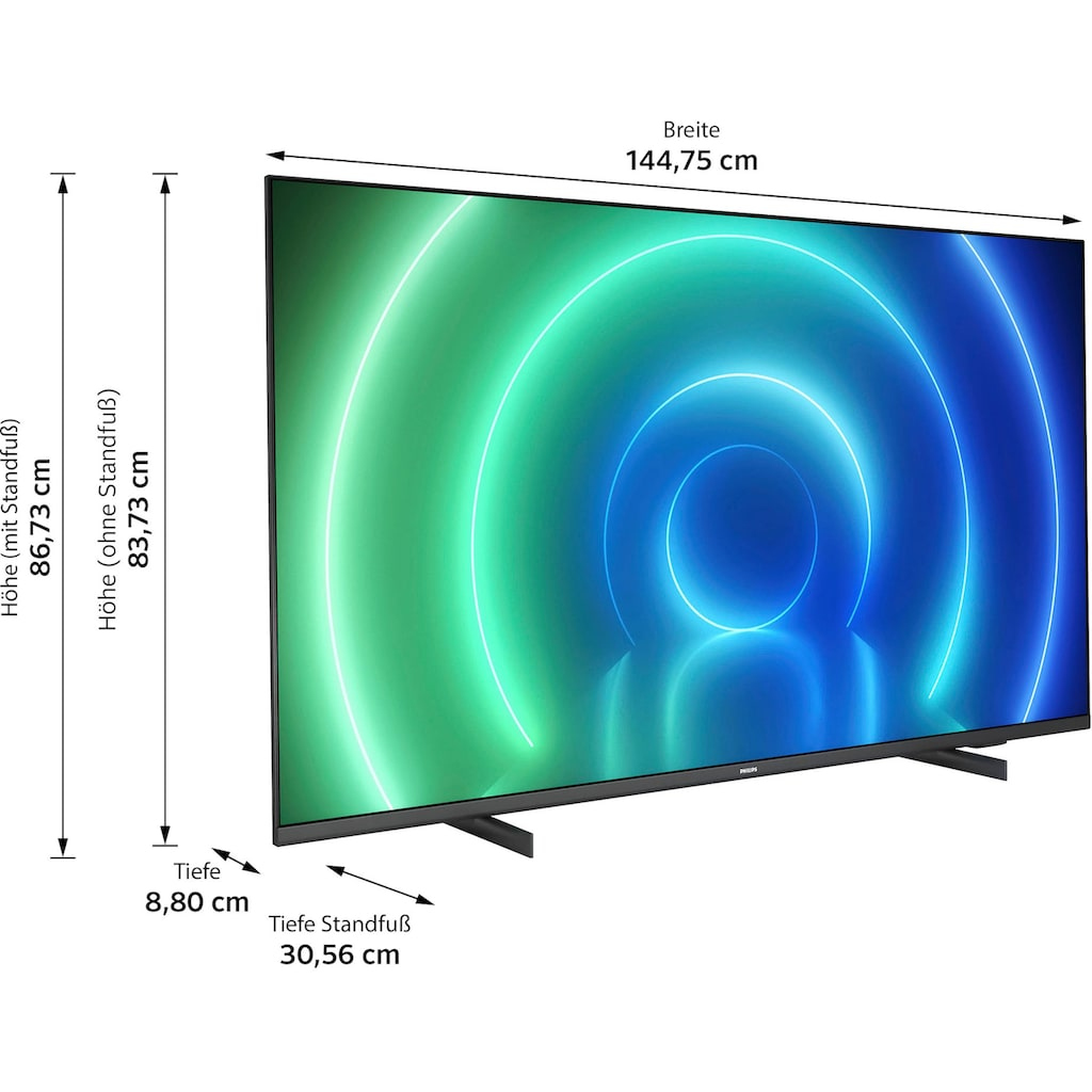 "Philips LED-Fernseher »65PUS7506/12«, 164 cm/65 "", 4K Ultra HD, Smart-TV"