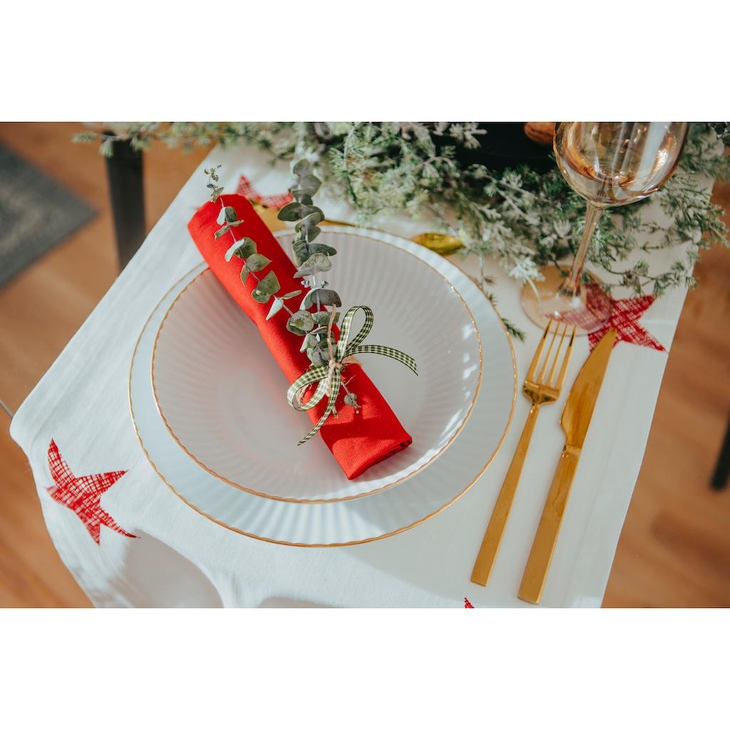 my home Tafelservice »Leona«, (Set, 12 tlg.), mit handgemaltem, breiten Goldband