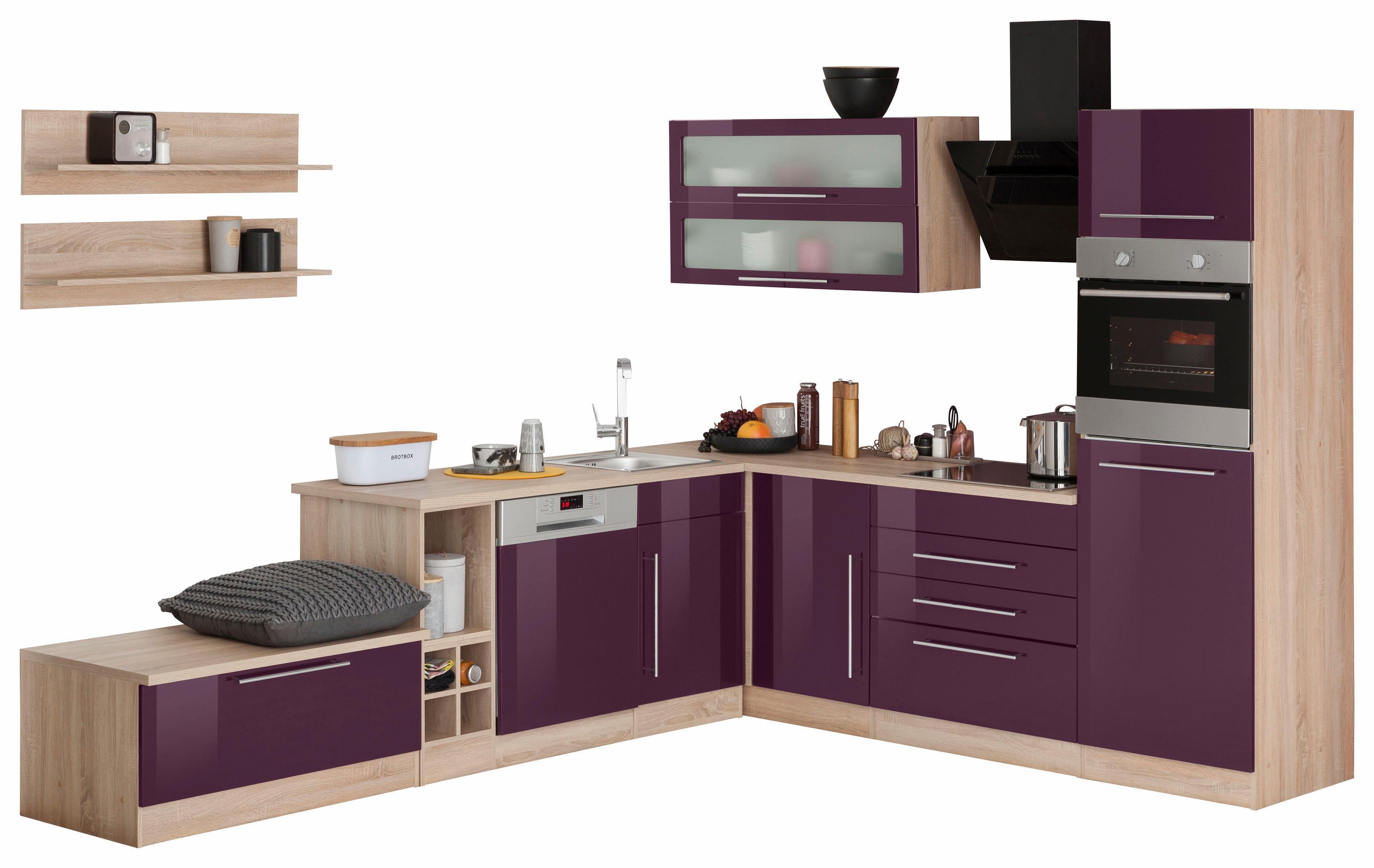hochglanz spanplatte winkelk chen online kaufen m bel suchmaschine. Black Bedroom Furniture Sets. Home Design Ideas