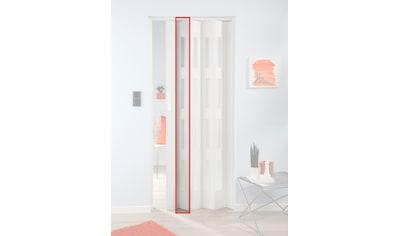 FORTE Türerweiterung , Zusatzlamelle für Falttür »Luciana«, eiche weiß + 4 Fenster kaufen