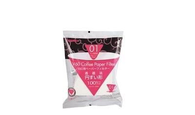 Hario Papierfilter V60 Spitzkegelfilter Größe 01 (100Stk.) weiß kaufen