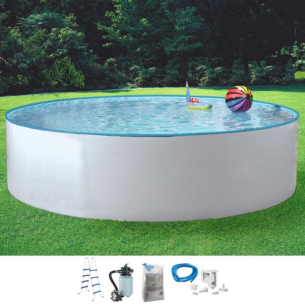 MYPOOL Set: Rundpool »Standard«, 5-tlg. in verschiedenen Größen | Garten > Swimmingpools > Schwimmbecken | Weiß | MYPOOL