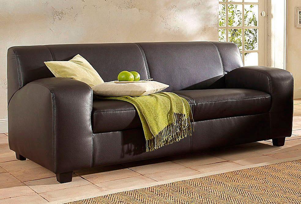 3 sitzer sofa mit federkern, home affaire 2-oder 3-sitzer »fun«, wahlweise mit federkern | moebel, Design ideen